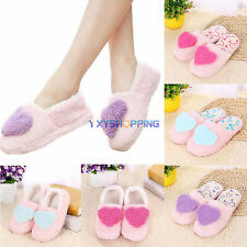 Womens Anti-slip Soft Mules Sandal Shoes Winter Warm Indoor Girls Plush Slippers
