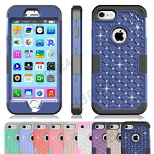 Armor Blingbling Crystals Diamond Hybrid Heavy Duty Shockproof Case For iPhone