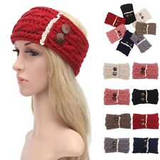 Women Winter Ear Warmer Knit Crochet Headband Hairband Hair Band Headwrap Turban