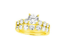 2.00Ct Round Cut Diamond Engagement Ring Wedding Band Set Solid 18k Gold G SI1