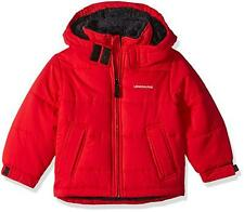 London Fog Toddler Boys Red Sherpa Lined Classic Bubble Jacket Size 2T 3T 4T