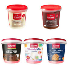 Renshaw Ready Made Vanilla Or Chocolate Frosting For Cup cakes Decorating 400g