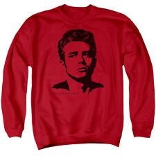 James Dean Silhouette Icon Actor Movie Juniors Adult Crewneck Sweatshirt Tee