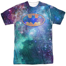 Batman DC Comics Superhero Galaxy Bat Logo Adult Front Print T-Shirt Tee