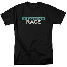 The Amazing Race Reality Game Show Distressed Bar Logo Adult T-Shirt Tee