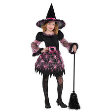 Girls Darling Witch Costume for Halloween Fancy Dress Outfit