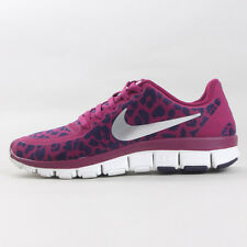 2013NIKE WOMEN FREE 5.0 V4 LEOPARD RASPBERRY 511281-603 silver red pink Running