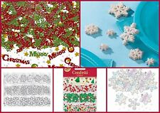 Christmas Table Confetti Table Decorations Sprinkles Snowflakes Stars Stockings