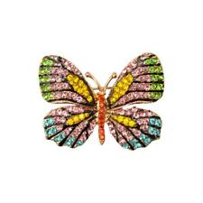 Retro Crystal Rhinestone Butterfly Animal Brooch Pin Jewelry Gift for Girl Women