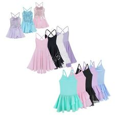 Girl Kid Princess Spaghetti Strap Ballet Dancer Leotard Dress Tutu Party Costume