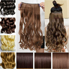 100% real Natural Hair Extension 3/4 Full head Clips in on Hair Extensions hs62