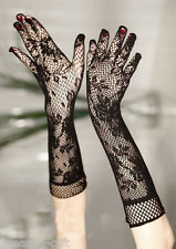 HX Women Long Lace Floral Gloves Wedding Party Gloves Fashion Elegant Mittens