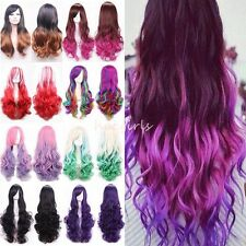 """24-40"""" Long Curly Wavy Hair Japanese Anime Cosplay Party Full Wig Fancy Dress #G"""