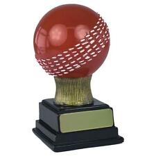 """CRICKET BALL 3D Trophy 5"""" or 6"""" FREE ENGRAVING Bowler Bowling Personalised NEW"""