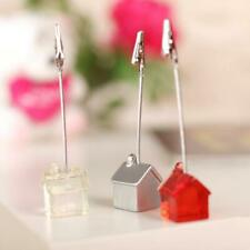 Cute House Base Wire Memo Holder Paper Photo Note Clip Place Wedding Name Card