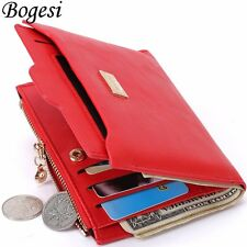 Lady Women Leather Clutch Short Wallet ID/Credit Card Holder Zipper Coin Purse