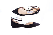 Jimmy Choo Ballet Shoes -25% LEATHER MADE ITALY Woman Blacks LUCY FLAT SUEDE-247