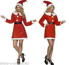 Ladies Value Mrs Miss Santa Christmas Xmas Festive Fancy Dress Outfit Costume