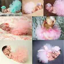 Lovely Toddler Newborn Baby Girl Tutu Skirt Headband Photo Prop Costume Outfit