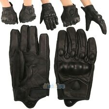 A Pair Leather Gloves Full Finger Mens Motorcycle Driving Winter Warm Gloves NEW