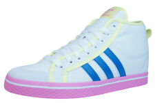 adidas Honey Stripes Up Womens Mid Top Trainers / Sneakers - White