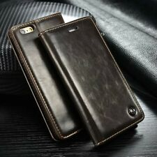 Luxury Leather Magnetic Flip Card Wallet Cover Case For Various Mobile Phones A