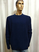 Tommy Hilfiger mens Cable Knit Lambswool Pullover Crewneck sweater M L XXL NEW