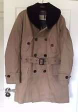Burberry Cotton Parka Shearling Collar Warmer Trench Brand New BNWT Large L
