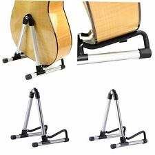 Folding Aluminum Electric Acoustic Bass Guitar Stand A Frame Floor Rack HolderUK