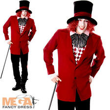 Victorian Mad Hatter Mens Fancy Dress Fairytale Dickens Book Day Adults Costume
