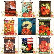 Christmas Snowman Thanksgiving Halloween Welcome Autumn Fall Garden Flag Banner