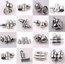 Hot 10Set Silver Plated Tube Barrel Round Strong Magnetic Clasps Jewelry Finding