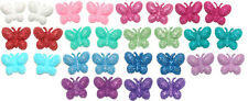 PRETTY GLITTER BUTTERFLY STUD EARRINGS ~ 14 COLORS ~ U PICK