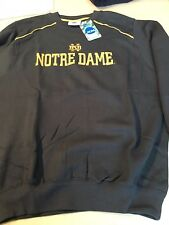 NOTRE DAME EMBROIDERED COLLEGE NCAA  SWEATSHIRT NAVY FREE SHIPPING