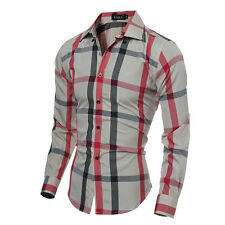 Mens Fashion Luxury Stylish Slim Fit Casual Long Sleeve Dress Shirts T-Shirt top