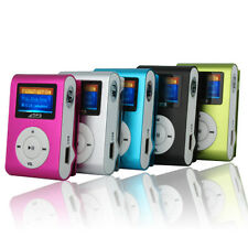 USB Mini Clip MP3 Player LCD Screen Support 32GB Micro SD TF Card New