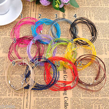 Wholesale 5Pcs Organza Lobster Clasp Chain Voile String ribbon Cord Necklace New