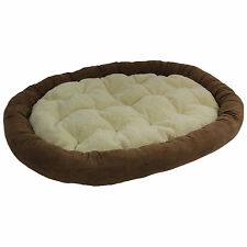 """Extra Large Microsuede Bolster Pet Bed (50""""x36"""")"""
