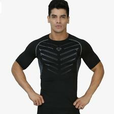 Men Compression Under Base Layer Fitness Top Tight Short Sleeve Athletic T-Shirt
