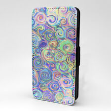 Swirls Print Design Pattern Flip Case Cover For Apple iPhone - P944