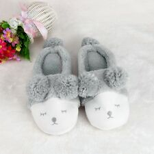 Plush Slipper Stripe Cute Men And Women Slipper Winter Warm Indoor Home Slippers