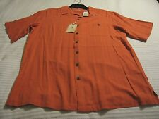 Caribbean by Roundtree & Yorke Silk Blend Coral - Orange Color Shirt Size: LT