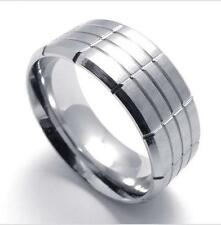 Stainless Steel Silver Shiny Cool Mens Ring Size 8 9 10 11 12 R295