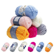 50g Colorful Milk Cotton Hand Knitting Soft Smooth Yarn For Scarves Blankets