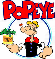 """5-9""""  POPEYE THE SAILOR MAN  CHARACTER  WALL SAFE STICKER  BORDER CUT OUT"""