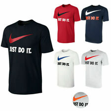 New Nike Mens Just Do It Swoosh Logo Graphic Crew Regular Fit Tee T-Shirt XS-XL