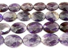 Cut Natural Amethyst Flat Oval Faceted Beads 15.5'' 10x14MM 15x20MM