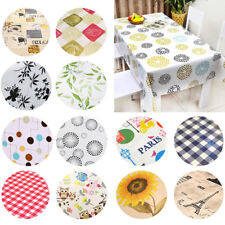 Waterproof Wipe Clean PVC Tablecloth Dining Kitchen Table Cover Multi Size