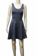 Womens New Look A Line Skater Swing Dress Jeans Style Blue Size 6 to 14 Ladies