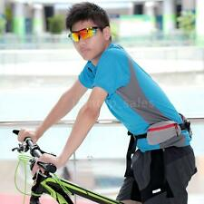 Outdoor Travel Bicycle Sport Exercise Waist Pack with Water Bottle Holder J4G1